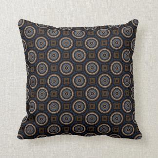 Blue And Brown Circles PillowsDecorativeThrow PillowsZazzle