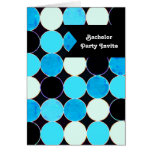 Retro Circles Bachelor Party Invitation Card Greeting Cards