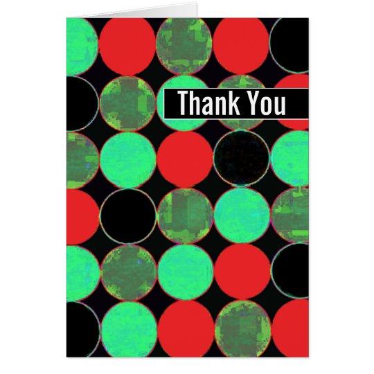 """Retro Circles Bachelor Party """"Thank You"""" Card"""