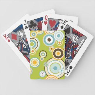 Retro Circles Bicycle Playing Cards