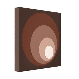 Retro Circles Brown Rust Taupe Cream Canvas Print