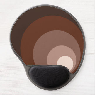 Retro Circles Brown Rust Taupe Cream Gel Mouse Pad