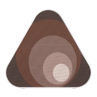Retro Circles Brown Rust Taupe Cream Speaker
