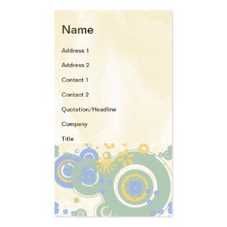 Retro Circles Business Card