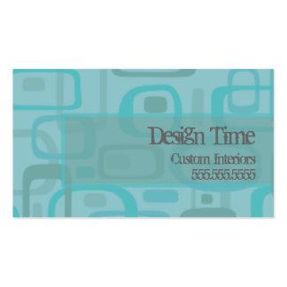 retro circles business card templates