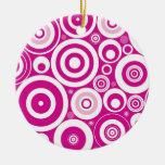 Retro Circles Christmas Ornament