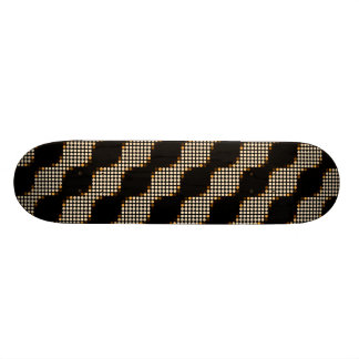 Retro Circles Dots Art Pattern Custom - Skateboard