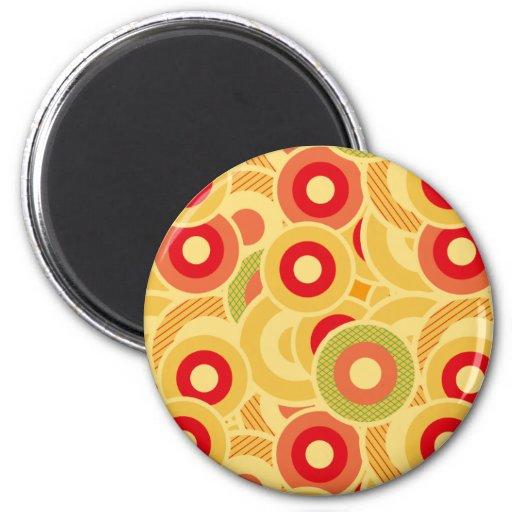 Retro circles fridge magnet