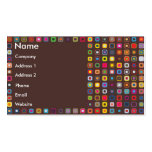 Retro Circles In Squares Double-Sided Standard Business Cards (Pack Of 100)