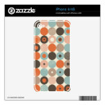 retro circles in vector iphone skin decal for the iPhone 4S