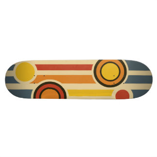 Retro Circles & Lines Skateboard Deck