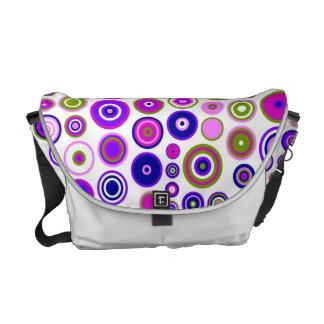 Retro Circles Mosaic Pattern   Rings Seamless 2 Messenger Bag