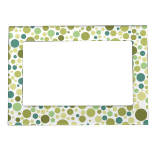 Retro Circles Pattern Magnetic Picture Frame