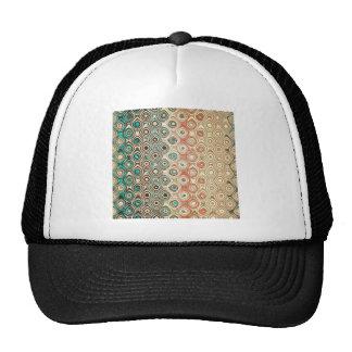 Retro Circles Pattern Trucker Hat