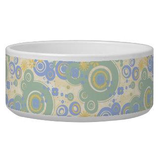 Retro Circles Pet Bowls