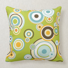Retro Circles Pillow