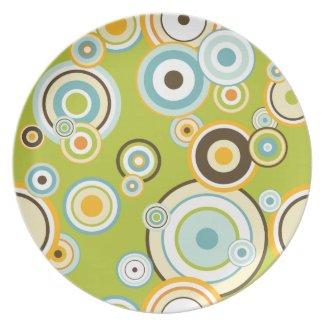 Retro Circles Plates