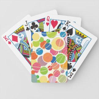 Retro Circles Playing Cards