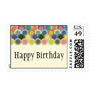 Retro Circles Postage Stamp