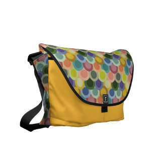 Retro Circles Rickshaw Messenger Bag