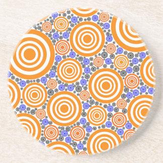 Retro Circles Sandstone Coaster