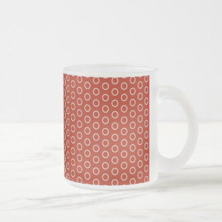 retro circles scores to 70 polka dots dabbed DOT p Frosted Glass Coffee Mug