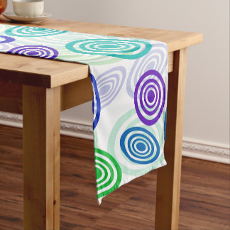 Retro Circles Short Table Runner