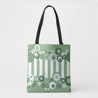 Retro circles tote bag