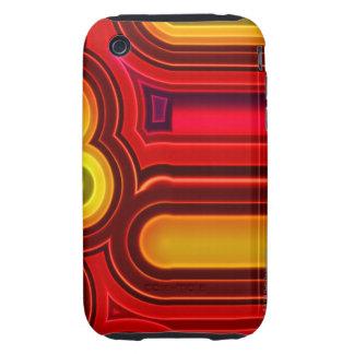 Retro Circles Tough iPhone 3 Case