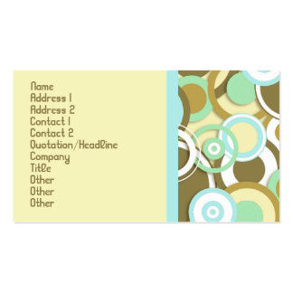 Retro Circles Trendy & Stylish Profile Card Business Card