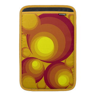 "Retro Circles Vertical 11"" Macbook Air Sleeve"