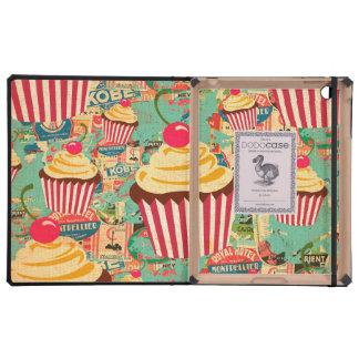 Retro Circus Cupcakes iPad Folio Case
