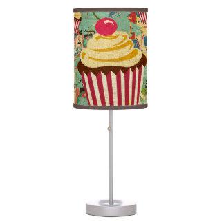 Retro Circus Cupcakes Table Lamps