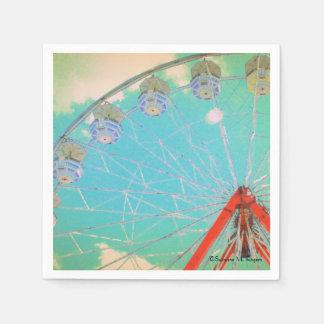 Retro Circus Ferris Wheel ~ Paper Party Napkins