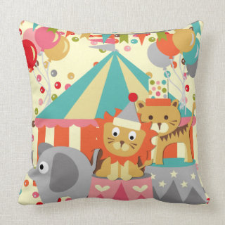 Retro Circus MOJO Pillow