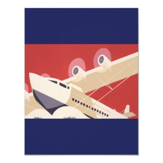 Retro City of New York Airports WPA Poster Card