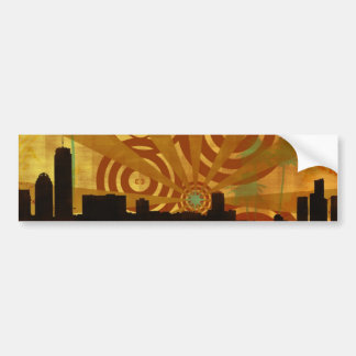 retro cityscape bumper sticker