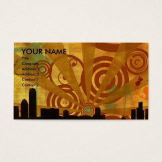 retro cityscape business card