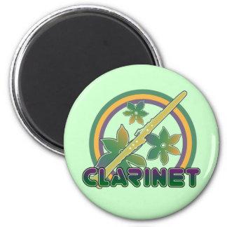 Retro Clarinet 2 Inch Round Magnet