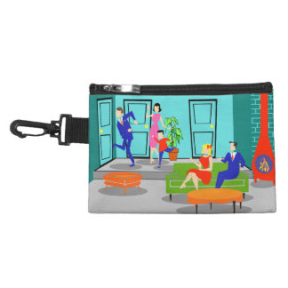 Retro Classic Television Clip On Accessory Bag