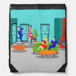 Retro Classic Television Drawstring Backpack
