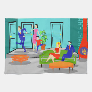 Retro Classic Television Kitchen Towel