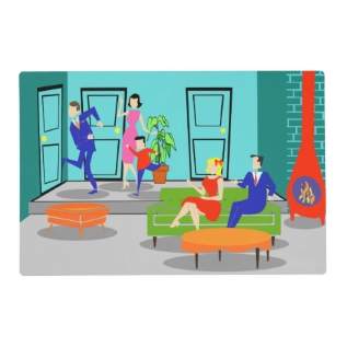 Retro Classic Television Laminated Placemat at Zazzle