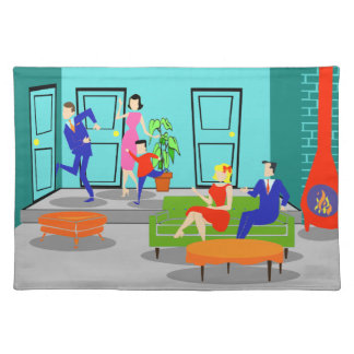 Retro Classic Television Placemat Cloth Place Mat