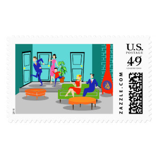 Retro Classic Television Postage Stamps