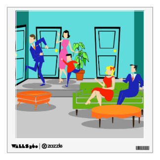 Retro Classic Television Wall Decal