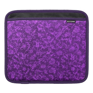 Retro Classy Sassy Sissy Vintage Floral Amethyst Sleeve For iPads