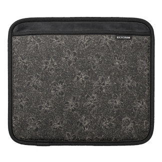 Retro Classy Sassy Sissy Vintage Floral Charcoal iPad Sleeve