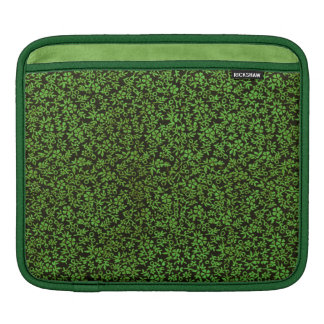 Retro Classy Sassy Sissy Vintage Flowers Green Sleeve For iPads