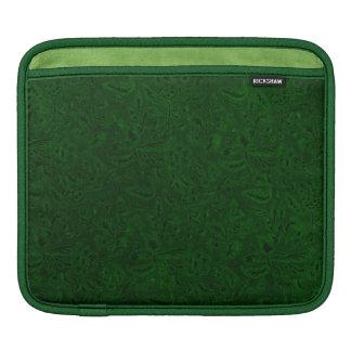 Retro Classy Sassy Sissy Vintage Plants Emerald Sleeve For iPads